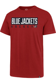 Columbus Blue Jackets 47 Block Super Rival T Shirt - Red