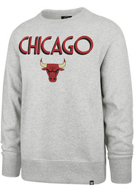 Chicago Bulls 47 City Series Headline Crew Sweatshirt - Grey