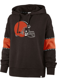 Cleveland Browns Womens 47 Charlie Hooded Sweatshirt - Brown
