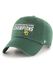 47 Baylor Bears 2021 National Champions Clean Up Adjustable Hat - Green