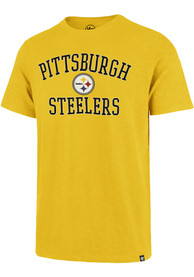 Pittsburgh Steelers 47 Victory Arch Scrum Fashion T Shirt - Gold
