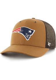 New England Patriots 47 Carhartt Meshback Clean Up Adjustable Hat - Brown