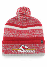 Kansas City Chiefs 47 2020 Conference Champions Cuff Knit - Red