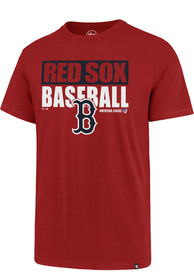 Boston Red Sox 47 Blockout Super Rival T Shirt - Red