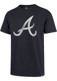 Atlanta Braves 47 Grit Scrum Fashion T Shirt - Navy Blue
