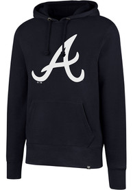 Atlanta Braves 47 Imprint Headline Hooded Sweatshirt - Navy Blue