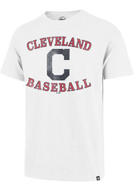 Cleveland Indians 47 COUNTER ARC SCRUM Fashion T Shirt - White