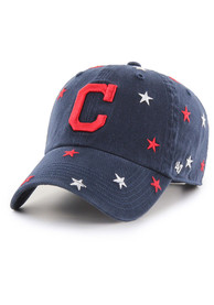 Cleveland Indians Womens 47 Confetti Clean Up Adjustable - Navy Blue