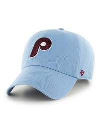 Philadelphia Phillies 47 Coop Clean Up Adjustable Hat - Light Blue