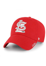 St Louis Cardinals Womens 47 Sparkle Clean Up Adjustable - Red