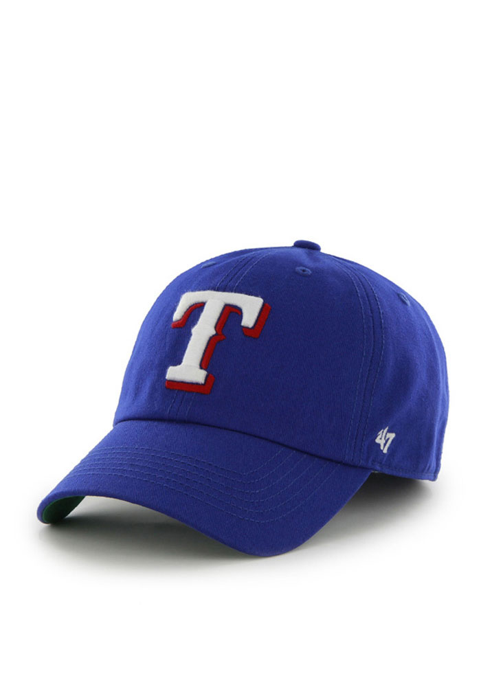 47 Texas Rangers Mens Blue 47 Franchise Fitted Hat - Image 1