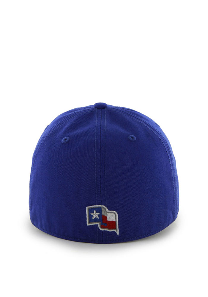 47 Texas Rangers Mens Blue 47 Franchise Fitted Hat - Image 2