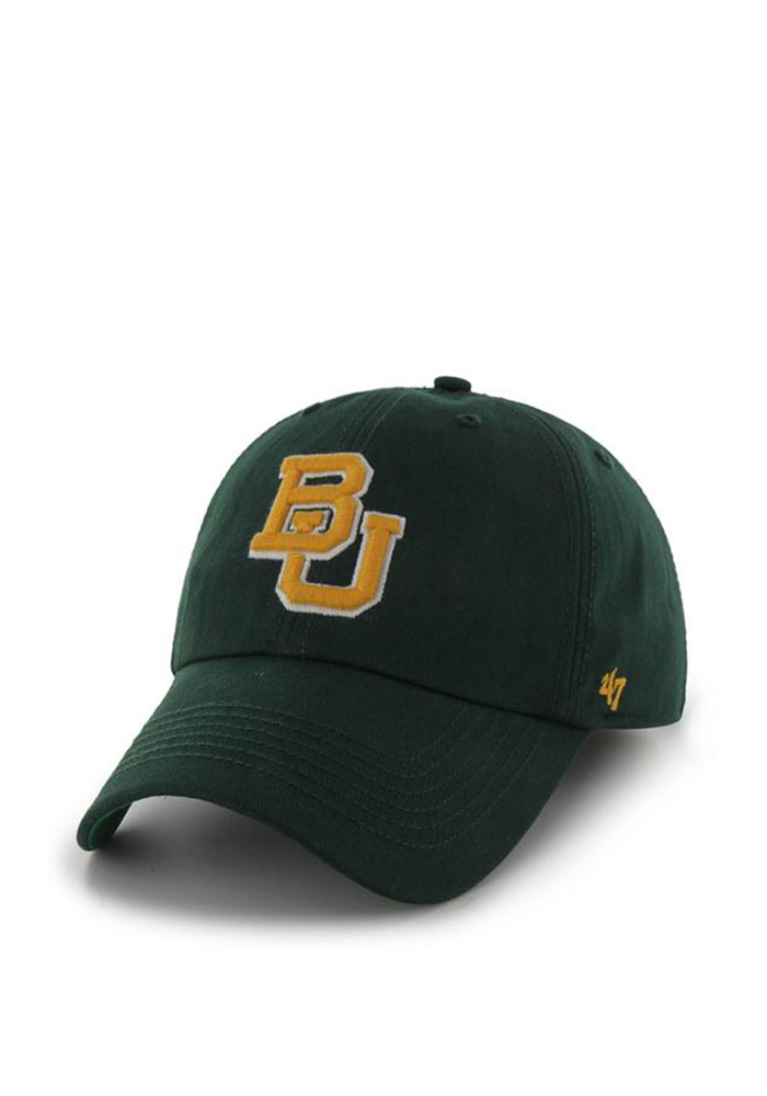 '47 Baylor Bears Mens Green 47 Franchise Fitted Hat - Image 1