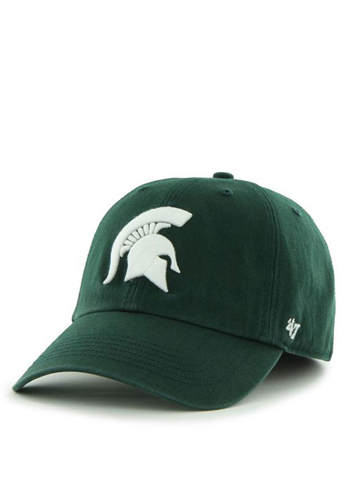 47 Michigan State Spartans Mens Green 47 Franchise Fitted Hat - Image 1