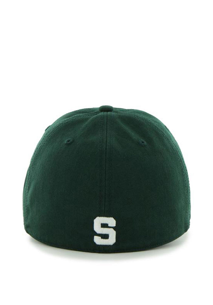 47 Michigan State Spartans Mens Green 47 Franchise Fitted Hat - Image 2