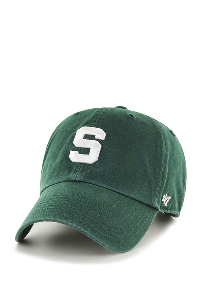 '47 Michigan State Spartans Mens Green Clean Up Adjustable Hat - Image 1
