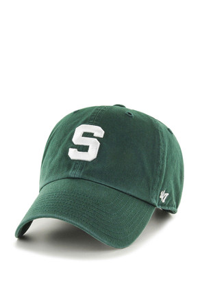 '47 Michigan State Spartans Mens Green Clean Up Adjustable Hat
