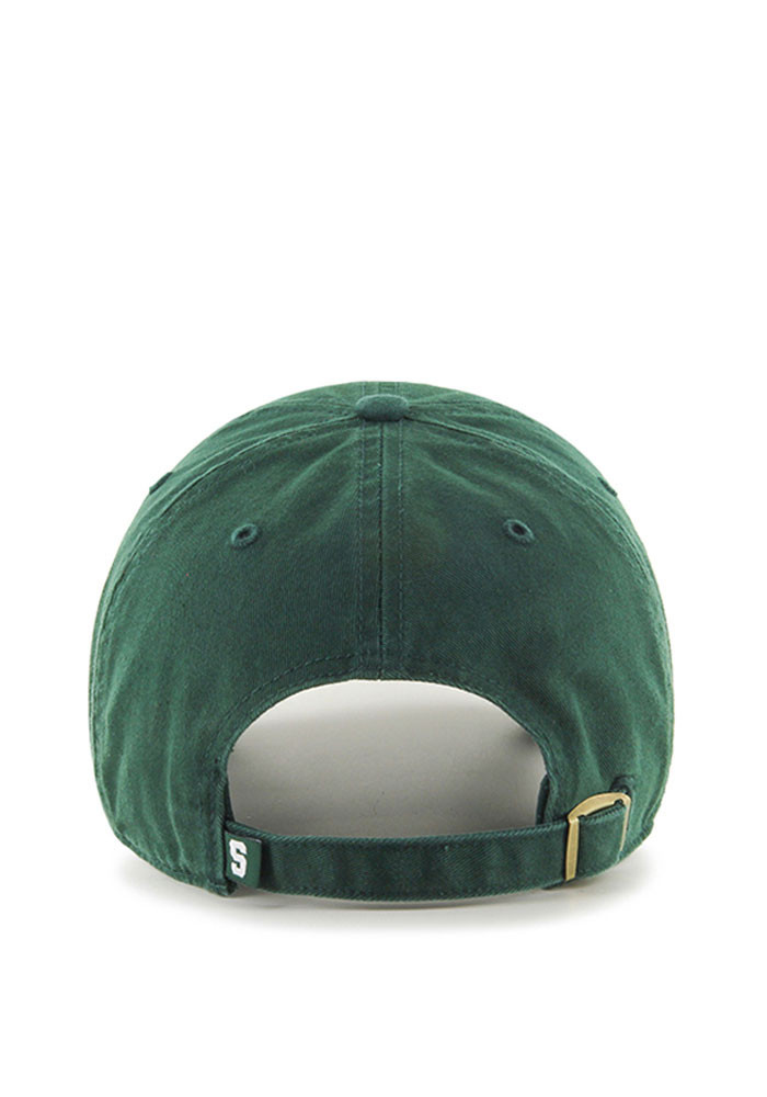 '47 Michigan State Spartans Mens Green Clean Up Adjustable Hat - Image 2