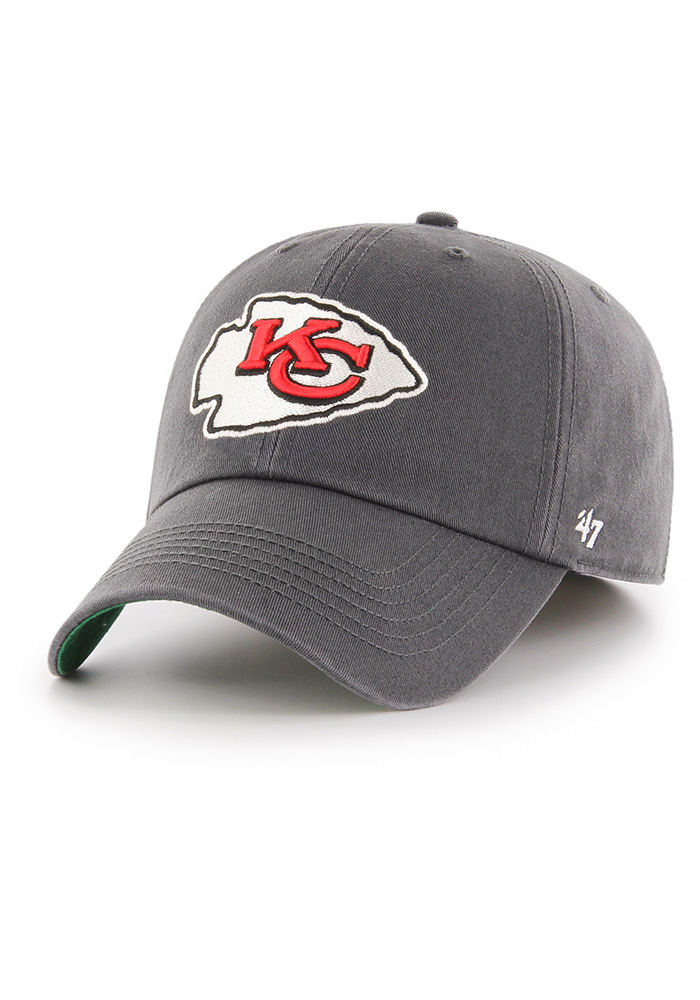 14b5fcabac5  47 Kansas City Chiefs Mens Grey 47 Franchise Fitted Hat - Image 1.