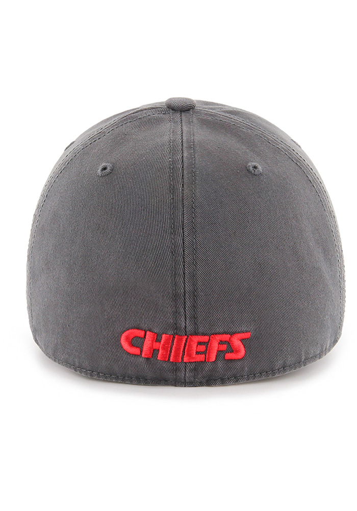 '47 Kansas City Chiefs Mens Grey 47 Franchise Fitted Hat - Image 2