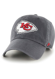 Kansas City Chiefs 47 Clean Up Adjustable Hat - Charcoal