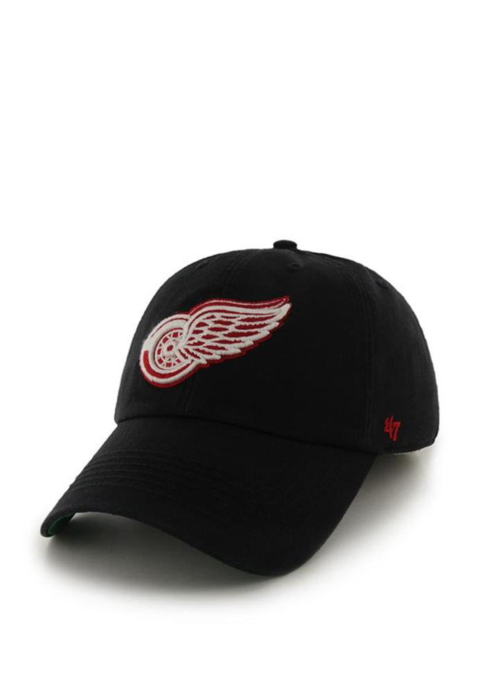 '47 Detroit Red Wings Mens Black 47 Franchise Fitted Hat - Image 1