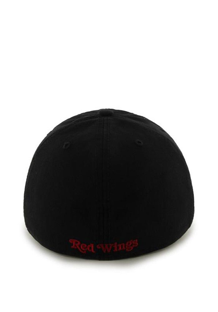 '47 Detroit Red Wings Mens Black 47 Franchise Fitted Hat - Image 2