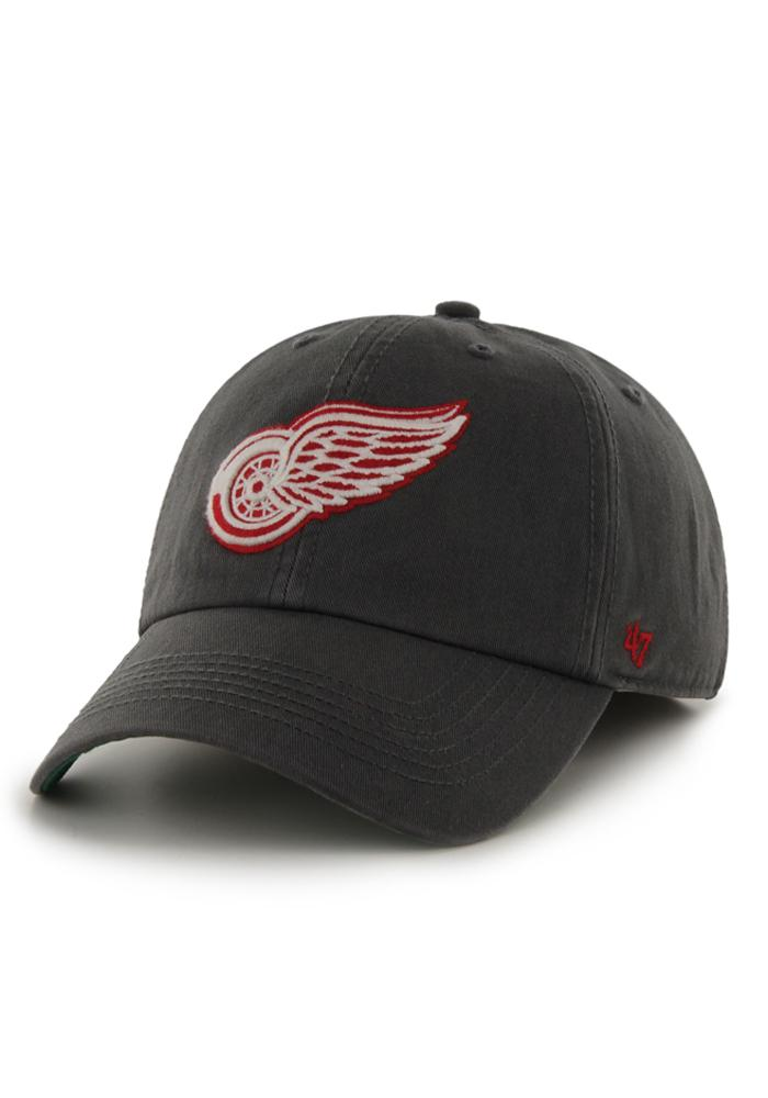 47 Detroit Red Wings Mens Charcoal 47 Franchise Fitted Hat - Image 1