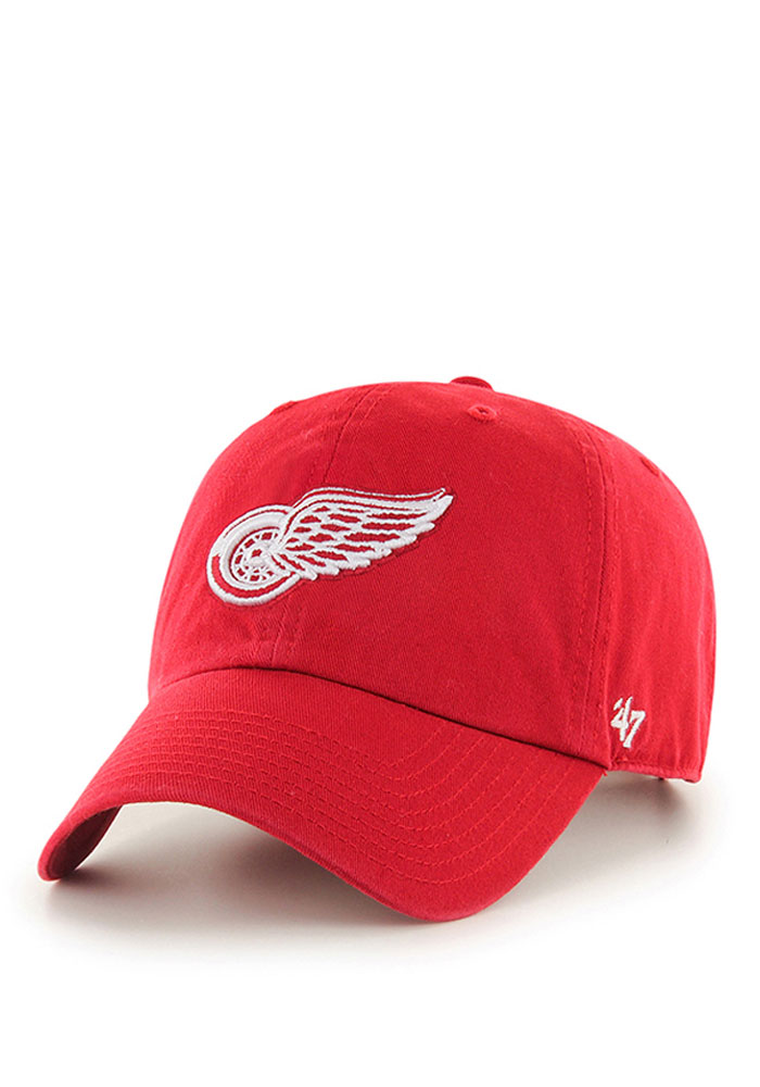 '47 Detroit Red Wings Mens Red Clean Up Adjustable Hat - Image 1