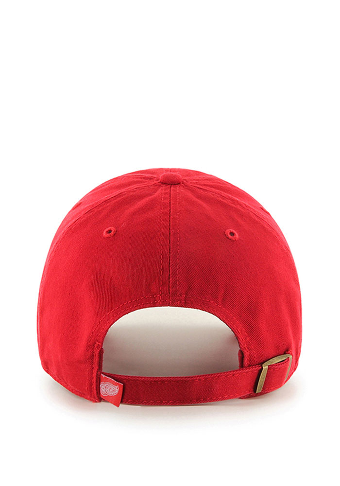 '47 Detroit Red Wings Mens Red Clean Up Adjustable Hat - Image 2