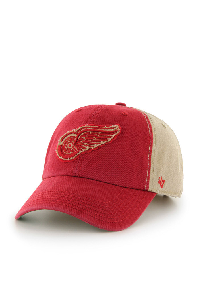 '47 Detroit Red Wings Mens White Healey Clean Up Adjustable Hat - Image 1