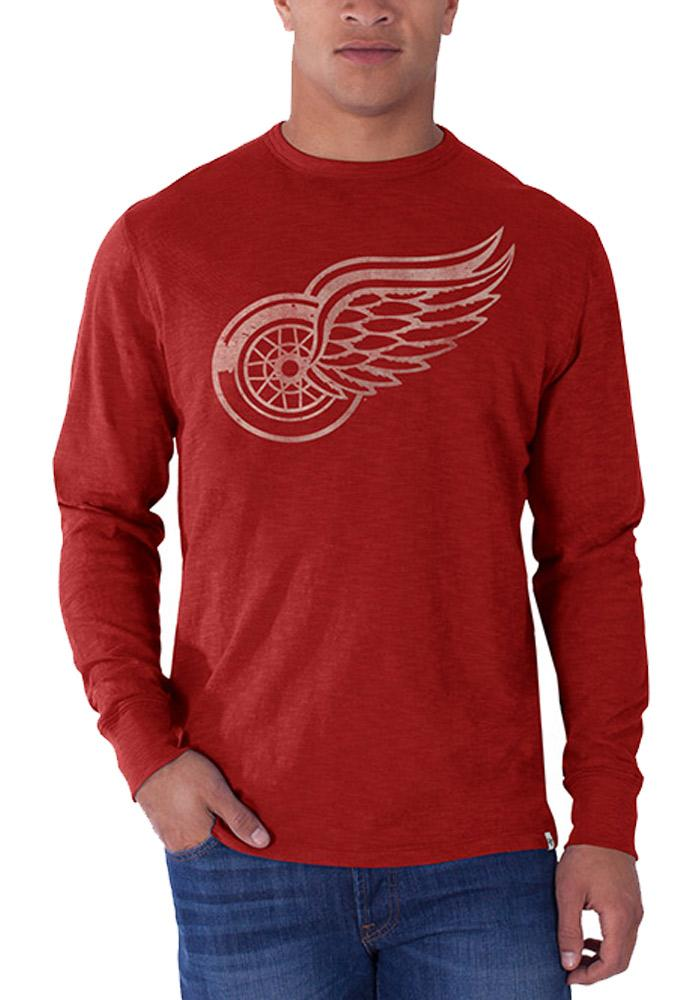 47 Detroit Red Wings Red Scrum Long Sleeve Fashion T Shirt - Image 1