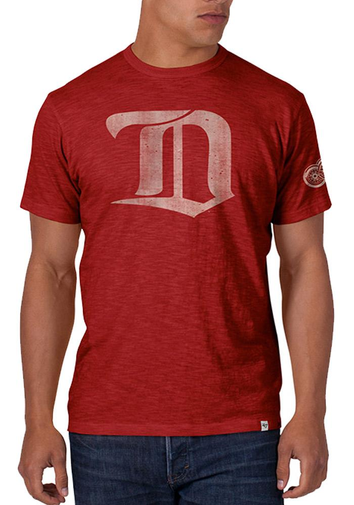 47 Detroit Red Wings Red Two Peat Short Sleeve Fashion T Shirt - Image 1