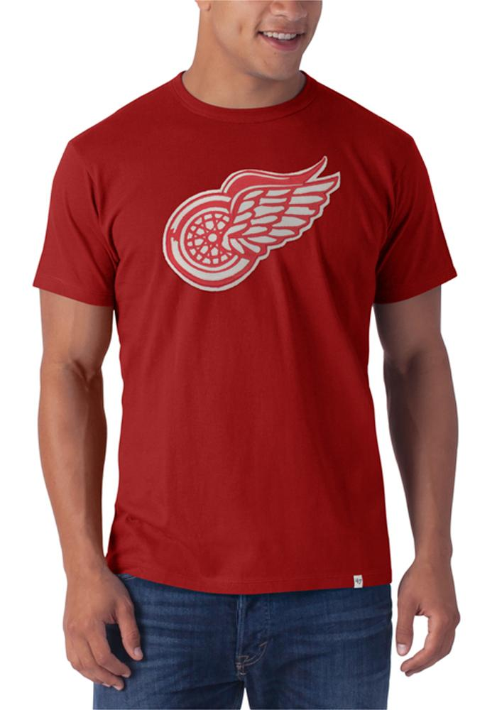 47 Detroit Red Wings Red Knockout Short Sleeve Fashion T Shirt - Image 1