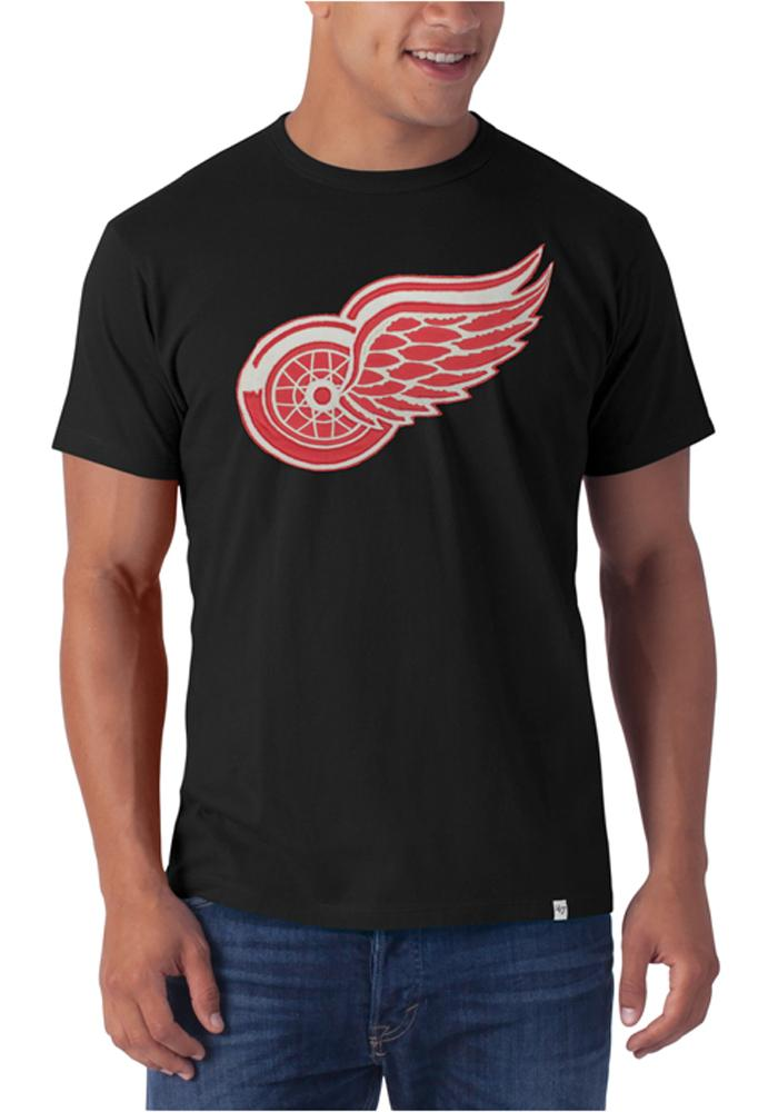 47 Detroit Red Wings Black Knockout Fashion Tee