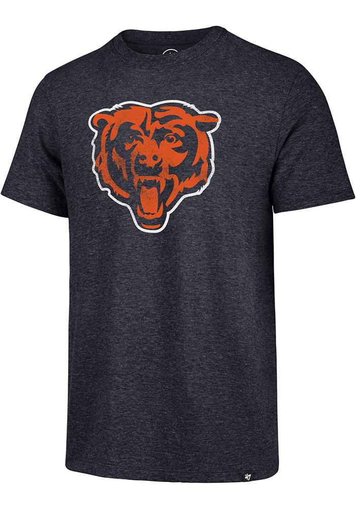 '47 Chicago Bears Navy Blue Match Short Sleeve Fashion T Shirt - Image 1