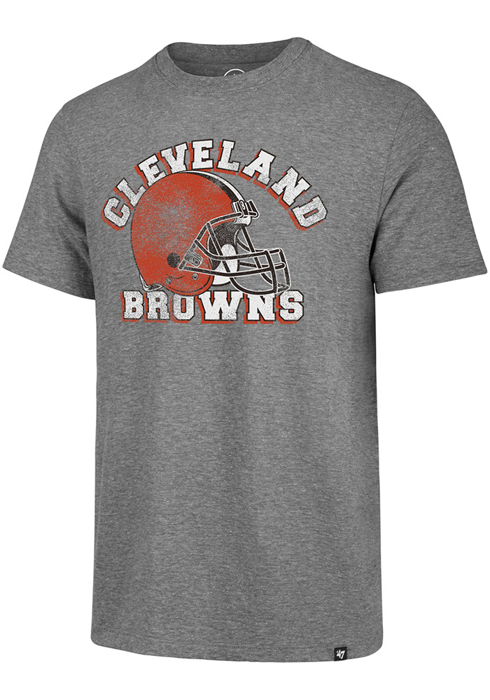 47 Cleveland Browns Grey Arch Short Sleeve Fashion T Shirt - Image 1