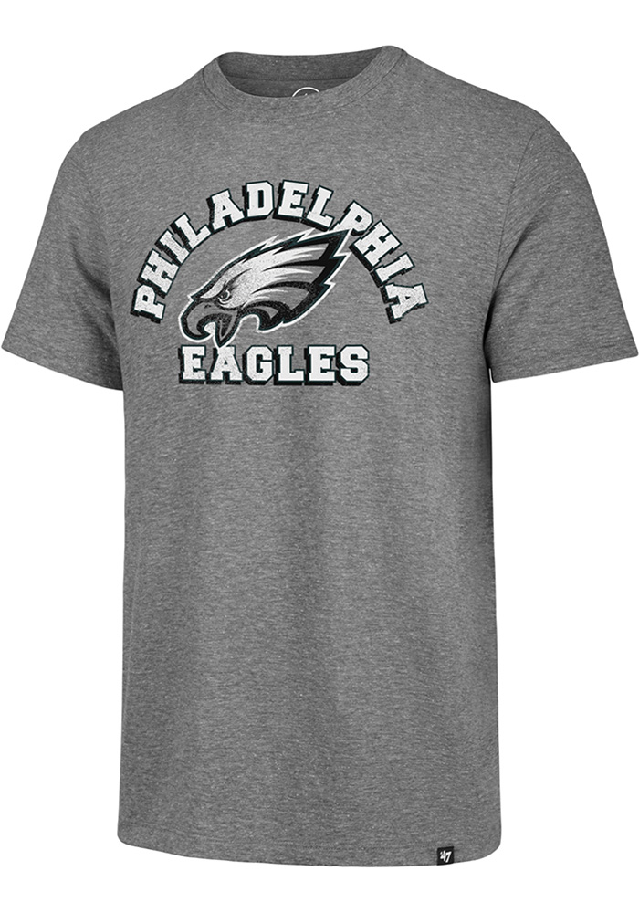 47 Philadelphia Eagles Grey Arch Short Sleeve Fashion T Shirt - Image 1