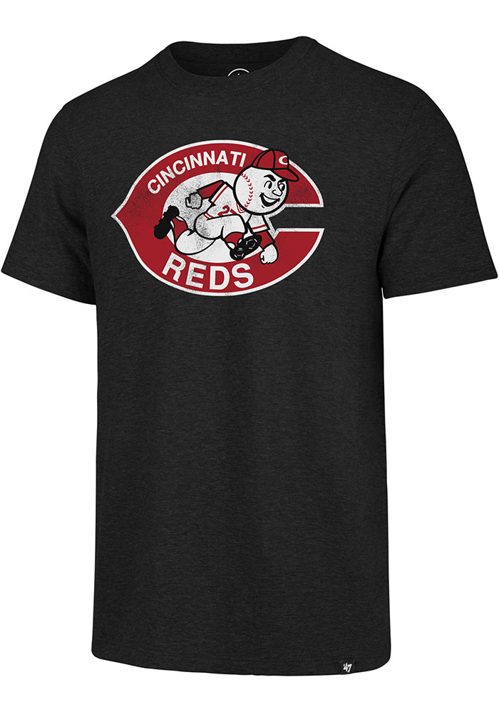 '47 Cincinnati Reds Black Match Short Sleeve Fashion T Shirt - Image 1