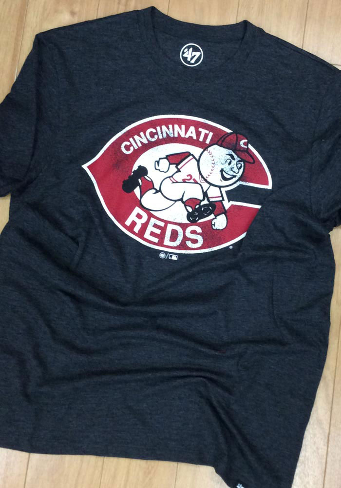 '47 Cincinnati Reds Black Match Short Sleeve Fashion T Shirt - Image 3