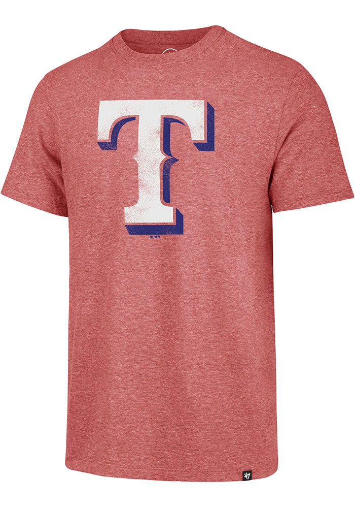 47 Texas Rangers Red Match Short Sleeve Fashion T Shirt - Image 1