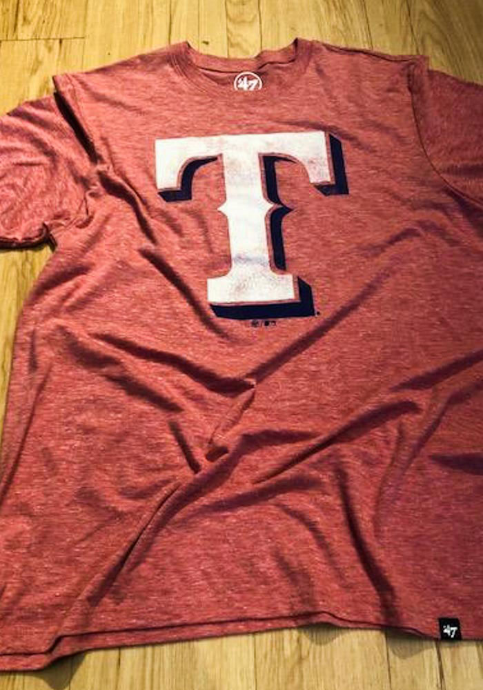 47 Texas Rangers Red Match Short Sleeve Fashion T Shirt - Image 3
