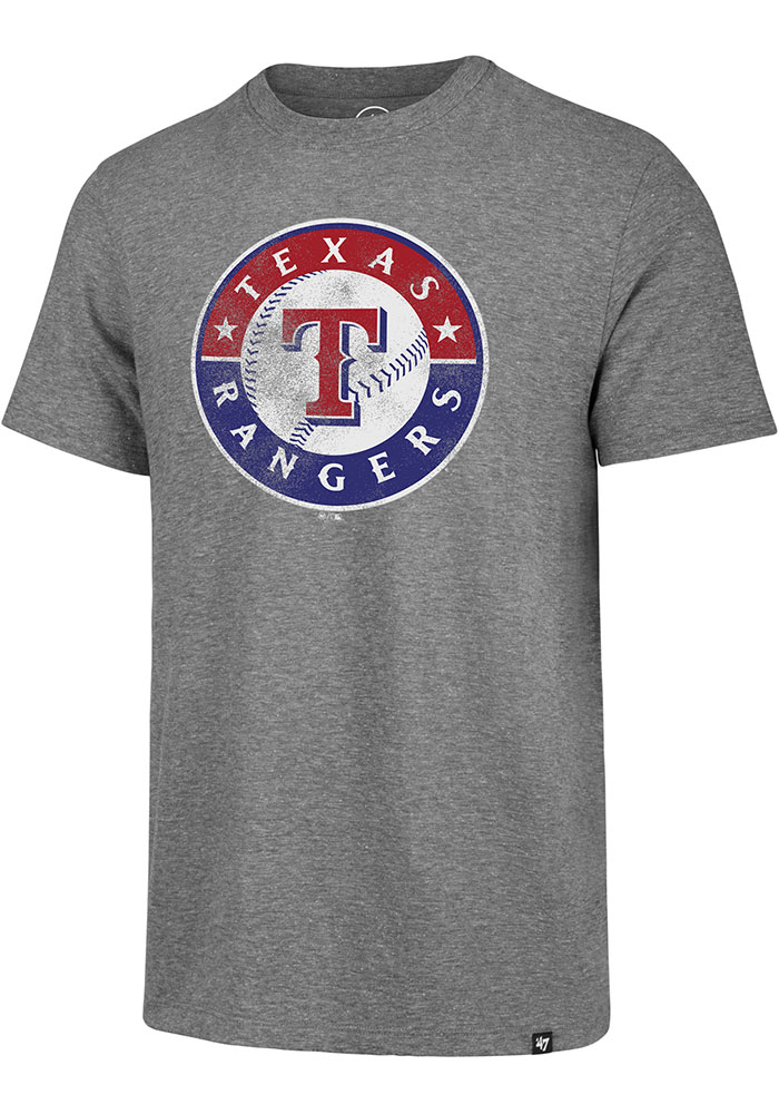 '47 Texas Rangers Grey Match Short Sleeve Fashion T Shirt - Image 1