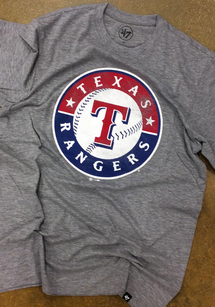 '47 Texas Rangers Grey Match Short Sleeve Fashion T Shirt - Image 2