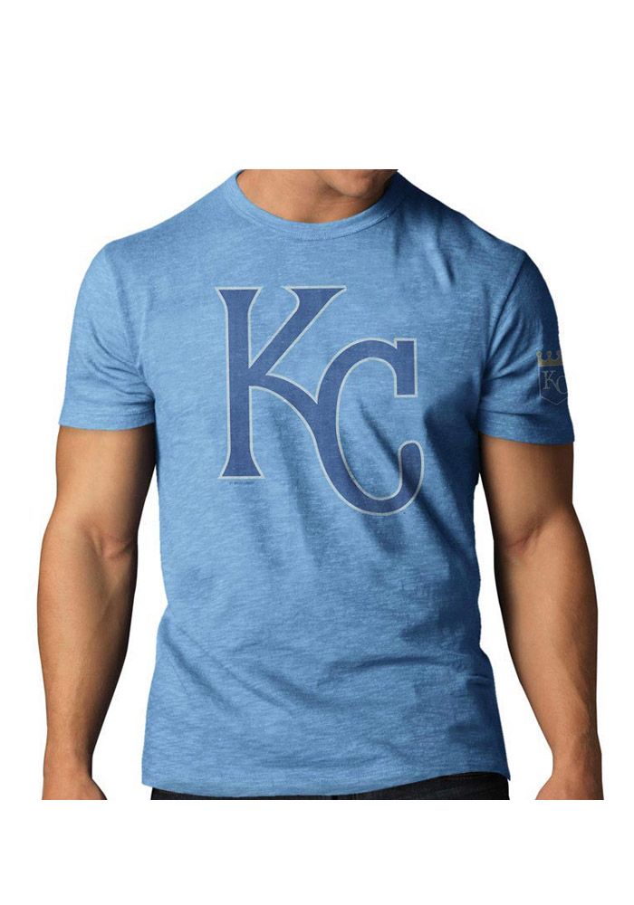 47 Kansas City Royals Light Blue Two Peat Short Sleeve Fashion T Shirt - Image 1