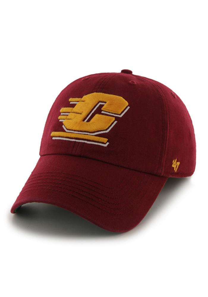 47 Central Michigan Chippewas Mens Maroon 47 Franchise Fitted Hat - Image 1