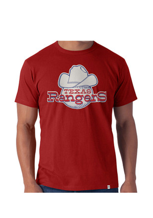 '47 Texas Rangers Mens Red Knockout Fashion Tee