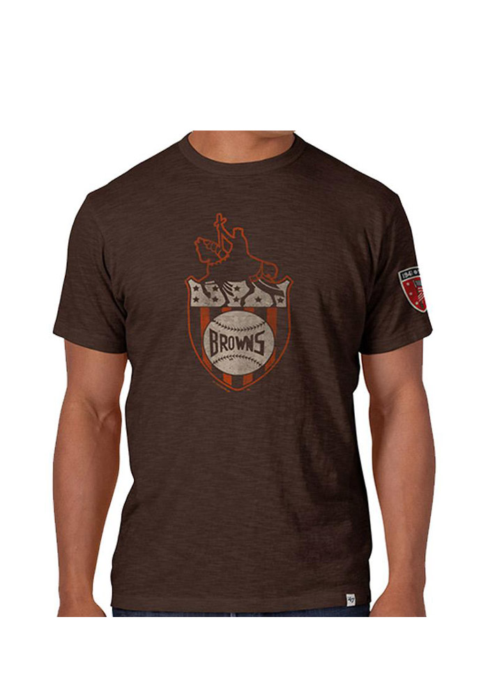 39 47 st louis browns mens brown 1941 scrum short sleeve for St louis t shirt printing