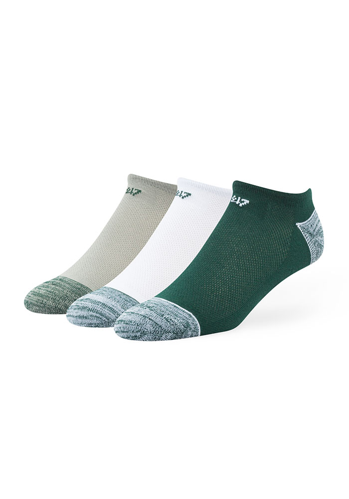 47 Michigan State Spartans Blade 3 Pack Mens No Show Socks - Image 1