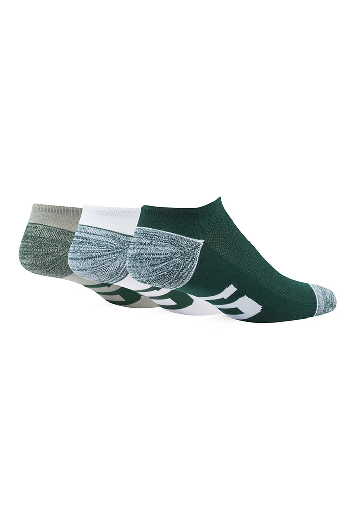 47 Michigan State Spartans Blade 3 Pack Mens No Show Socks - Image 2